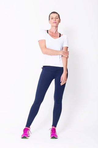 Bottoms,Navy Riding Seam Legging