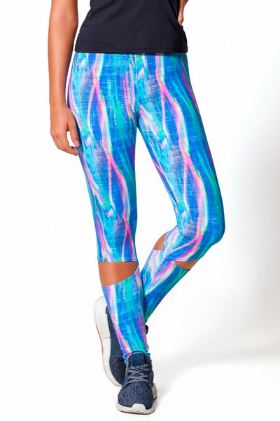 Bottoms Neon Paint Legging - Womens Activewear and Workout Clothes | RomanceUSA