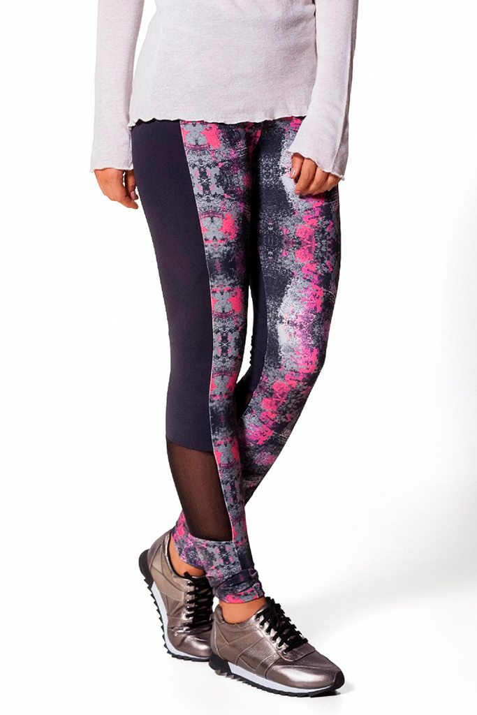Bottoms,Pink Splash Mesh Legging