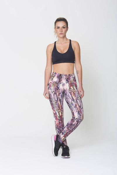 Bottoms Purple Snake Print - Womens Activewear and Workout Clothes | RomanceUSA