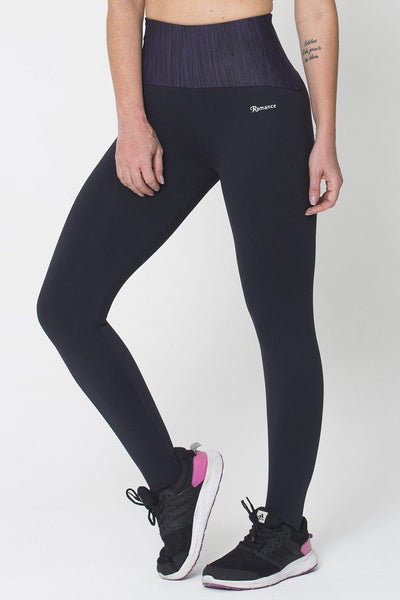 Bottoms Purple Waist Legging - Womens Activewear and Workout Clothes | RomanceUSA