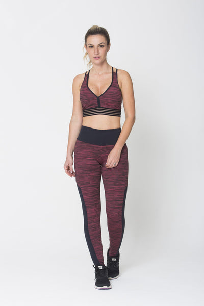 Bottoms Red Keep Balance Legging - Womens Activewear and Workout Clothes | RomanceUSA