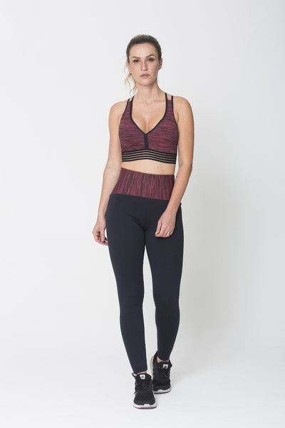 Bottoms Red Waist Legging - Womens Activewear and Workout Clothes | RomanceUSA
