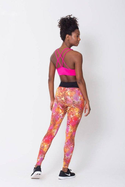 Bottoms Snake Style Watercolor Print - Womens Activewear and Workout Clothes | RomanceUSA