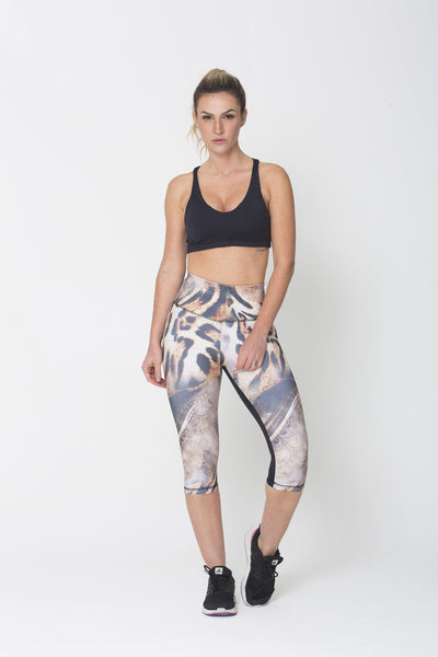 Bottoms Tiger Capri - Womens Activewear and Workout Clothes | RomanceUSA