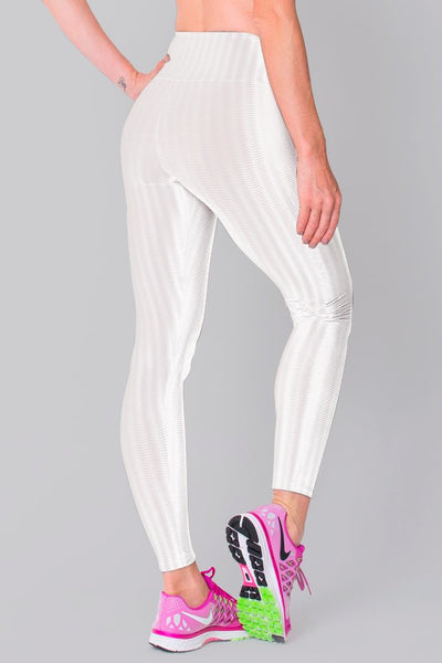 Bottoms White 3D Disco Leggings - Womens Activewear and Workout Clothes | RomanceUSA