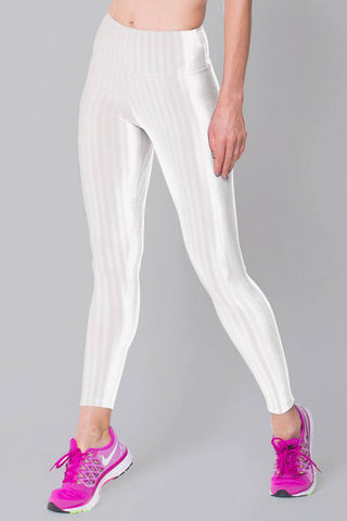 Bottoms,White 3D Disco Leggings