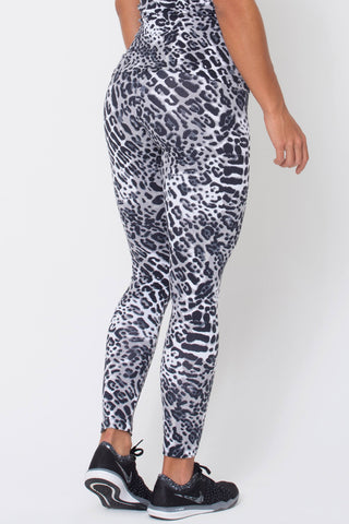 Bottoms,White Panter Print