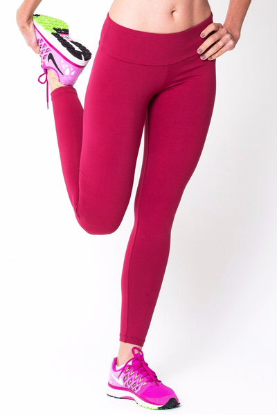 Bottoms Wine Active Legging - Womens Activewear and Workout Clothes | RomanceUSA