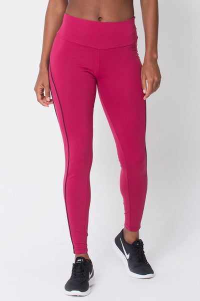 Bottoms Wine Viva Legging - Womens Activewear and Workout Clothes | RomanceUSA