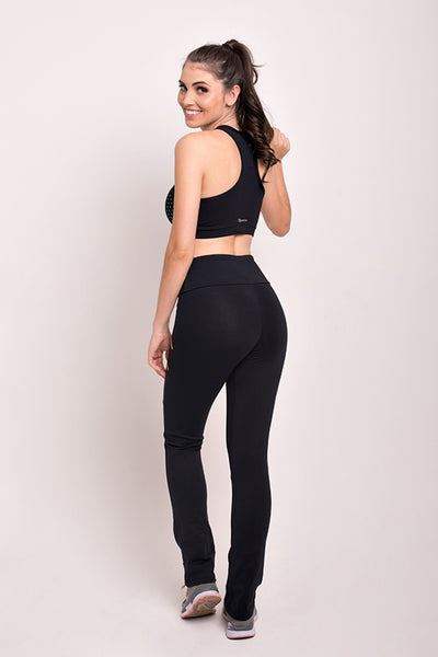 Bottoms Black 4 Zipper Pant - Womens Activewear and Workout Clothes | RomanceUSA