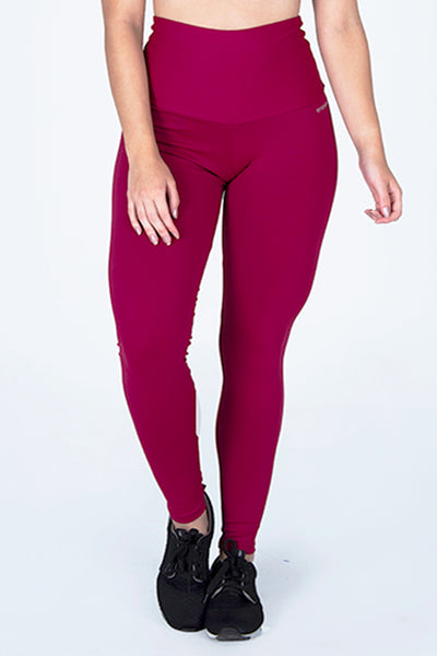 Bottoms Burgundy High Up Legging - Womens Activewear and Workout Clothes | RomanceUSA