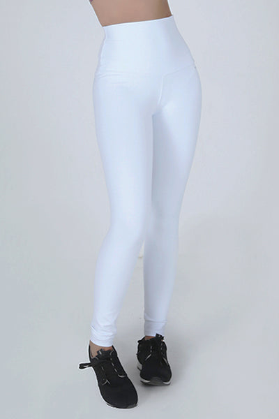 Bottoms White High Up Legging - Womens Activewear and Workout Clothes | RomanceUSA