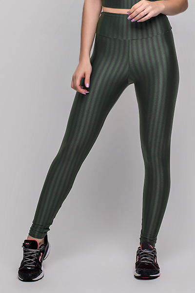 Bottoms Military Green 3D Disco Leggings - Womens Activewear and Workout Clothes | RomanceUSA