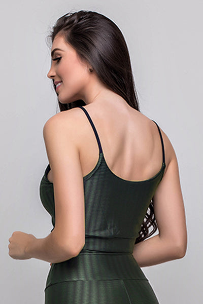 Tops Military Green 3D Top - Womens Activewear and Workout Clothes | RomanceUSA
