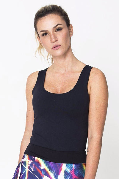 Tops Black Power Tank - Womens Activewear and Workout Clothes | RomanceUSA