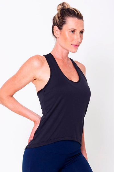 Tops Black Racerback Tank - Womens Activewear and Workout Clothes | RomanceUSA