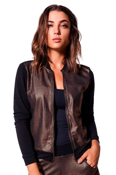 Tops Energy Foil Bomber Jacket - Womens Activewear and Workout Clothes | RomanceUSA