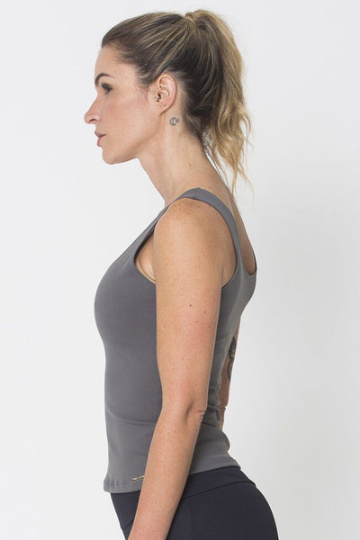 Tops Graphite Power Tank - Womens Activewear and Workout Clothes | RomanceUSA
