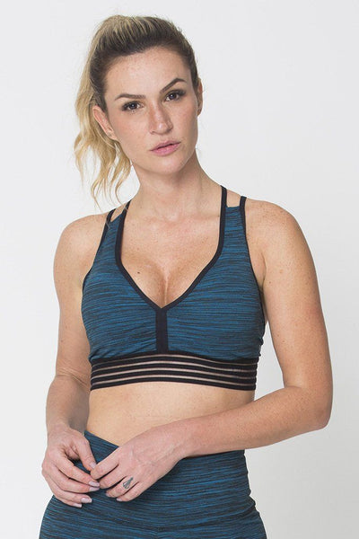 Tops Green Action Sports Bra - Womens Activewear and Workout Clothes | RomanceUSA