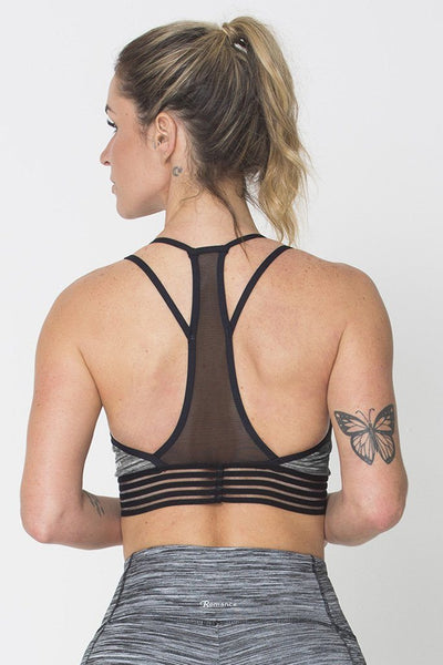 Tops Grey Action Sports Bra - Womens Activewear and Workout Clothes | RomanceUSA