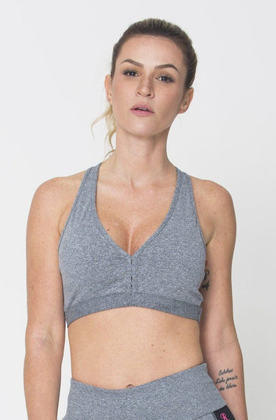 Tops Grey Master Sport Bra - Womens Activewear and Workout Clothes | RomanceUSA