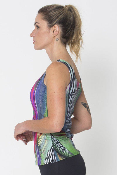 Tops Holographic Active Tank - Womens Activewear and Workout Clothes | RomanceUSA