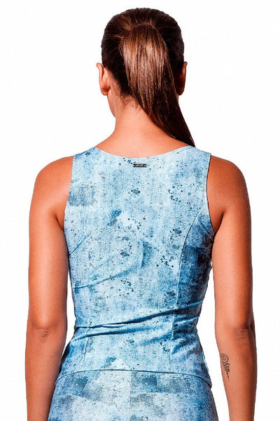 Tops Jeans Print Tank - Womens Activewear and Workout Clothes | RomanceUSA