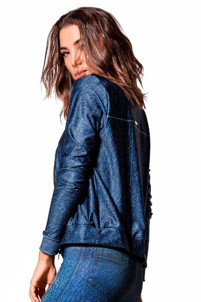 Tops Jeans Suplex Bomber Jacket - Womens Activewear and Workout Clothes | RomanceUSA