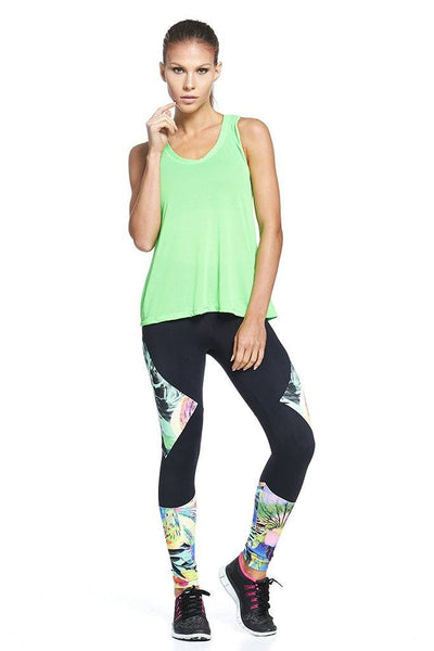 Tops Lime Crepe Tank - Womens Activewear and Workout Clothes | RomanceUSA