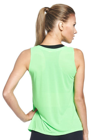 Tops,Lime Crepe Tank