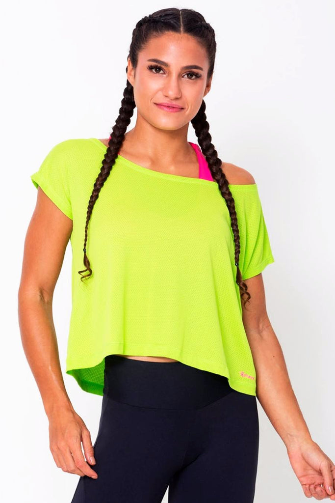 Tops,Lime Drop Tail Hem Tee