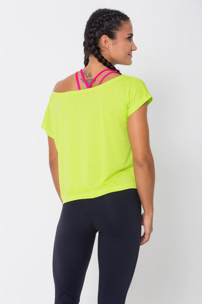 Tops Lime Drop Tail Hem Tee - Womens Activewear and Workout Clothes | RomanceUSA