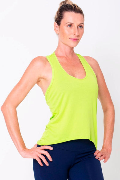Tops Lime Racerback Tank - Womens Activewear and Workout Clothes | RomanceUSA