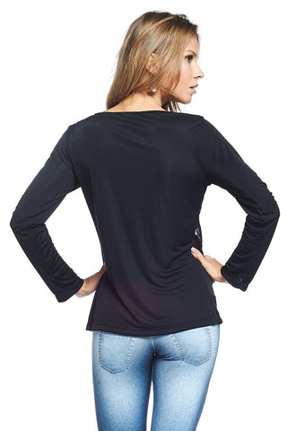 Tops,Mesh Detail Long Sleeve