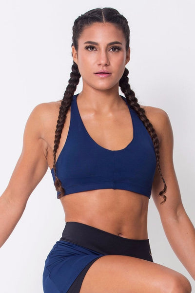 Tops Navy Lightweight Sports Bra - Womens Activewear and Workout Clothes | RomanceUSA