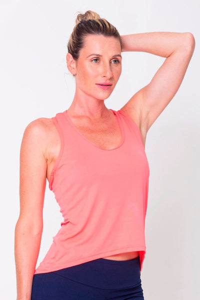 Tops Peach Racerback Tank - Womens Activewear and Workout Clothes | RomanceUSA
