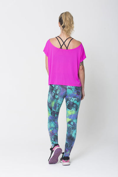 Tops Pink Drop Tail Hem Tee - Womens Activewear and Workout Clothes | RomanceUSA