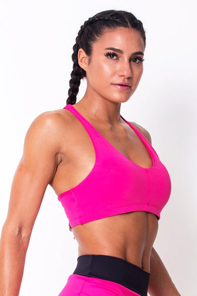 Tops Pink	Lightweight Sports Bra - Womens Activewear and Workout Clothes | RomanceUSA