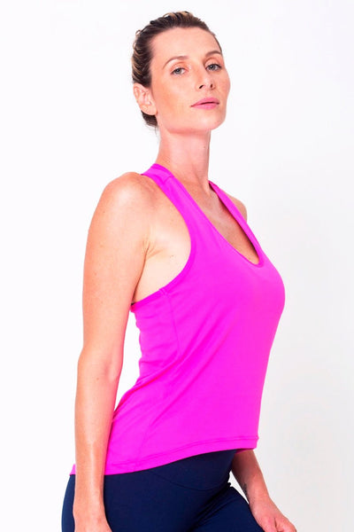Tops Pink Racerback Tank - Womens Activewear and Workout Clothes | RomanceUSA