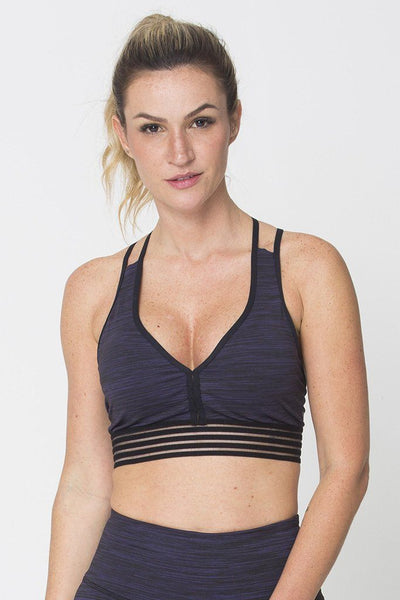 Tops Purple Action Sports Bra - Womens Activewear and Workout Clothes | RomanceUSA