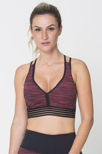 Tops Red Action Sports Bra - Womens Activewear and Workout Clothes | RomanceUSA