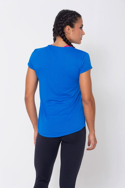 Tops Royal Mesh-Paneled Tee - Womens Activewear and Workout Clothes | RomanceUSA