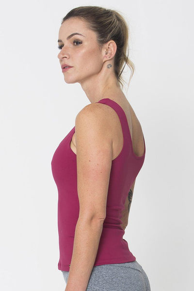 Tops Wine Power Tank - Womens Activewear and Workout Clothes | RomanceUSA
