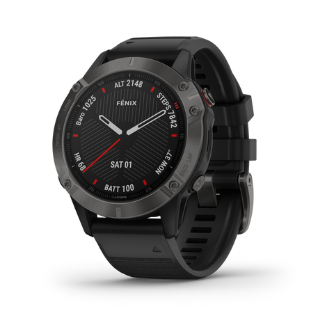 Garmin fēnix® 6 - Sapphire Edition - Carbon Gray DLC with Black Band 010-02158-10