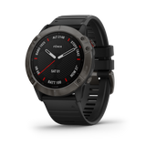 Garmin fēnix® 6X -Sapphire Edition- Carbon Gray DLC with Black Band 010-02157-10