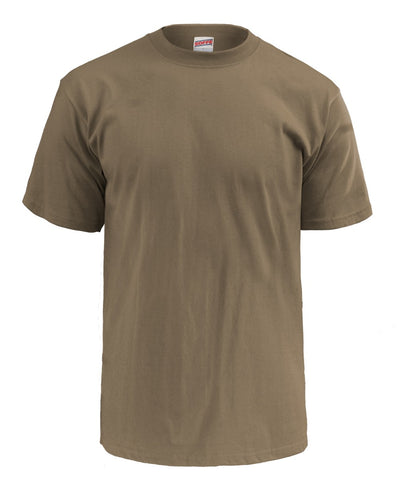 SOFFE 3 PACK - ADULT USA POLY COTTON MILITARY TEE Coyote Brown