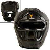 ProForce Thunder Black Vinyl Head Guard w/ Face Shield