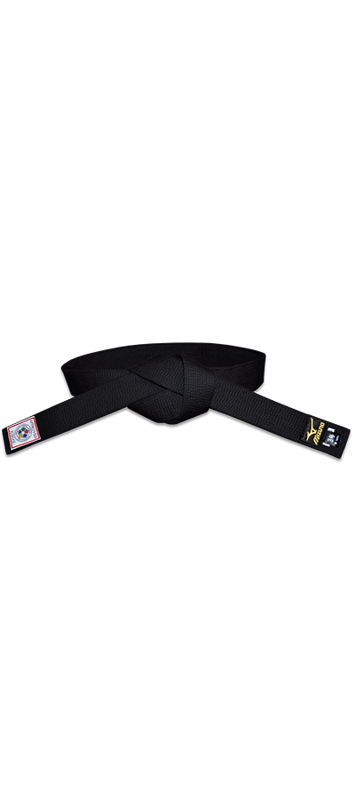Mizuno Gold Deluxe IJF Approved Black Belt