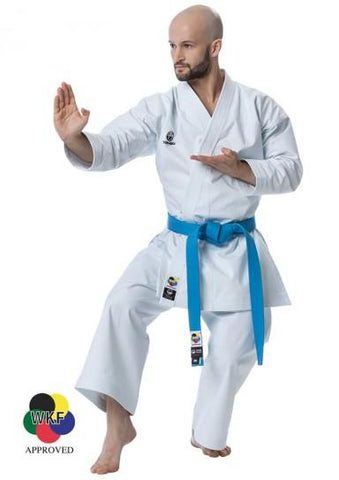 KI Heavyweight Traditional Cut Karate Gi - Wht, Blk, Red or Blue